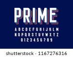 modern font design  alphabet... | Shutterstock .eps vector #1167276316