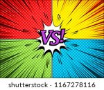 comic dynamic vs concept with... | Shutterstock .eps vector #1167278116