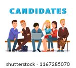 applicants people group waiting ... | Shutterstock .eps vector #1167285070