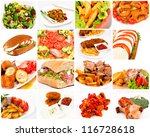 it is meal time with a bunch of ... | Shutterstock . vector #116728618