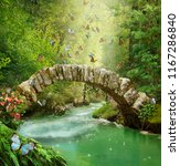 Stone Bridge And River In The...