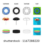 multicolored swimming circle...   Shutterstock . vector #1167288220