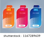host pricing for plan website... | Shutterstock .eps vector #1167289639