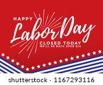 happy labor day vector... | Shutterstock .eps vector #1167293116