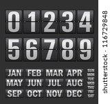 plastic digits set | Shutterstock .eps vector #116729848