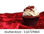 Red Velvet Cupcake On Velvet...