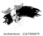 skull and grunge elements and... | Shutterstock .eps vector #1167300079