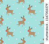 seamless christmas pattern with ... | Shutterstock .eps vector #1167303379