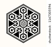 sacred geometry. graphic linear ... | Shutterstock .eps vector #1167305596