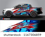pick up truck and car decal...   Shutterstock .eps vector #1167306859