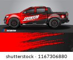 pick up truck and car decal... | Shutterstock .eps vector #1167306880