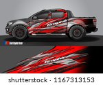 pick up truck and car decal... | Shutterstock .eps vector #1167313153