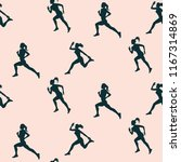 sports pattern   silhouettes of ...   Shutterstock .eps vector #1167314869