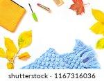 autumn feminine background.... | Shutterstock . vector #1167316036
