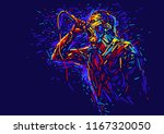 singer man character.abstract... | Shutterstock .eps vector #1167320050