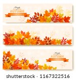 Three Abstract Autumn Banners...
