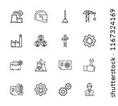 collection of 16 engineering... | Shutterstock .eps vector #1167324169