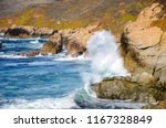 Huge Wave Breaking On Cliffs...