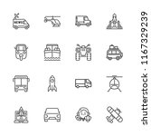 collection of 16 vehicle... | Shutterstock .eps vector #1167329239