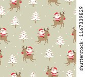 seamless christmas pattern with ... | Shutterstock .eps vector #1167339829