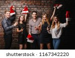 christmas party  holiday  fun.... | Shutterstock . vector #1167342220