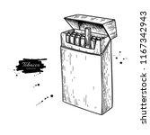 cigarette pack vector drawing.... | Shutterstock .eps vector #1167342943