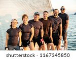 team athletes yacht training... | Shutterstock . vector #1167345850