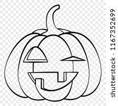 laughing face halloween pumpkin ...   Shutterstock .eps vector #1167352699