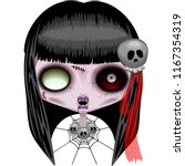 doll zombie creepy halloween... | Shutterstock .eps vector #1167354319