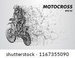 motocross particles. a... | Shutterstock .eps vector #1167355090