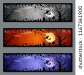 halloween colorful banners... | Shutterstock .eps vector #1167361900