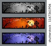 halloween colorful banners... | Shutterstock .eps vector #1167361906