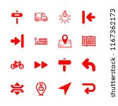 route icons set with double...   Shutterstock .eps vector #1167362173