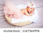a sweet unhappy to be awaken... | Shutterstock . vector #1167364996