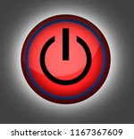 power on off button in red and... | Shutterstock . vector #1167367609