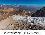 piuquenes lagoon still frozen... | Shutterstock . vector #1167369016