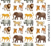 illustration of various animals ... | Shutterstock . vector #116737138