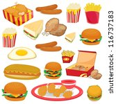 illustration of food on a white ... | Shutterstock . vector #116737183