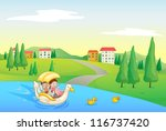 Illustration Of A River And...
