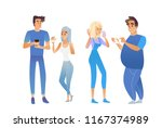 vector young men  women... | Shutterstock .eps vector #1167374989