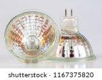 halogen bulb on a white table.... | Shutterstock . vector #1167375820