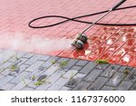 weed removal with steam | Shutterstock . vector #1167376000