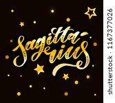 sagittarius lettering... | Shutterstock .eps vector #1167377026