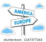 america europe direction... | Shutterstock .eps vector #1167377263