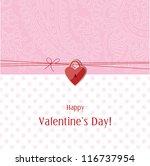 valentine's card | Shutterstock . vector #116737954