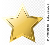 gold star shape. vector... | Shutterstock .eps vector #1167381376