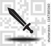 vector icon sword   Shutterstock .eps vector #1167385360