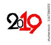 figures 2019. happy new year | Shutterstock .eps vector #1167386053