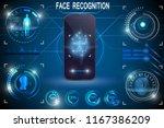 biometric identification or...   Shutterstock .eps vector #1167386209