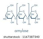 amylose polysaccharide polymer  ...   Shutterstock .eps vector #1167387340